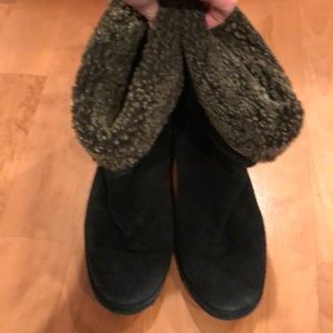 Stuart Weitzman Black Suede and Sherpa Boots -  9